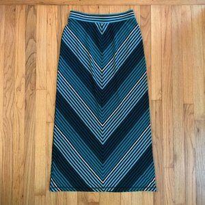 Old Navy Turquoise Chevron Maxi Skirt